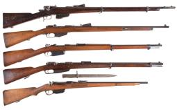 Five Military Bolt Action Rifles
