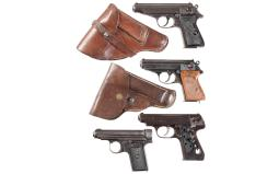 Four European Semi-Automatic Pistols