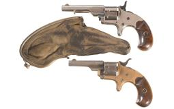 Colt Open Top Revolver with Ejector and Purse Holster