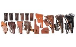 Assorted Leather Holsters and Magazine Pouches