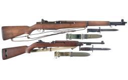 Two U.S. Military Semi-Automatic Longarms with Bayonets