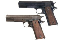 Two Colt Model 1911 Semi-Automatic Pistols