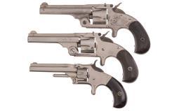 Three Antique Smith & Wesson Revolvers