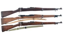 Two U.S. Military Bolt Action Rifles and One Inert Training Rifl