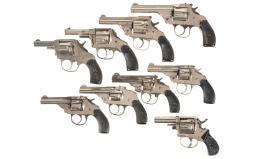 Nine Double Action Revolvers