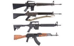 Four Semi-Automatic Rifles