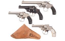 Four Smith & Wesson Top Break Revolvers