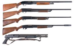 Five Slide Action Shotguns