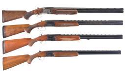 Four Factory Engraved Over/Under Shotguns