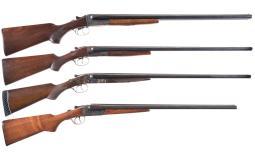 Four Double Barrel Shotguns