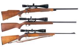 Three Scope Rifles