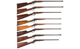 Eight Stevens Single Shot Long Guns