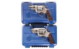 Two Smith & Wesson Double Action Revolvers with Original Cases