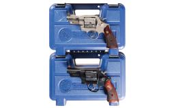 Two Smith & Wesson Double Action Revolvers with Original Cases -