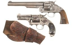 Two Antique American Single Action Revolvers