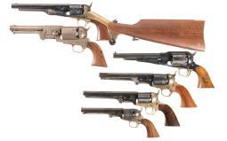 Six Modern Percussion Revolvers