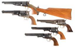 Five Modern Percussion Revolvers