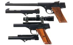 Two Left Handed Rock Pistol Manufacturing Single Shot Pistols