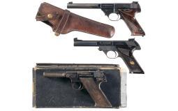 Three High Standard Semi-Automatic Pistols