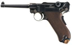 Bulgarian Contract Model 1908 Luger Pistol