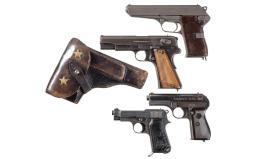 Four European Semi-Automatic Pistols