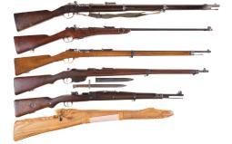 Six European Bolt Action Military Rifles