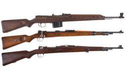 Three Military Rifles