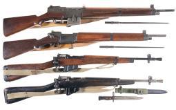 Four Military Long Guns