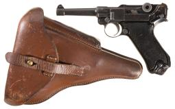 DWM Blank Chamber Luger with Finnish Army Markings, Holster
