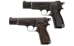 Two Browning High Power Semi-Automatic Pistols