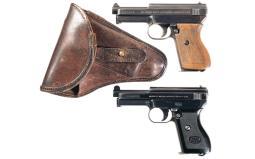 Two Mauser Semi-Automatic Pocket Pistols
