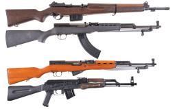 Four Semi-Automatic Long Guns