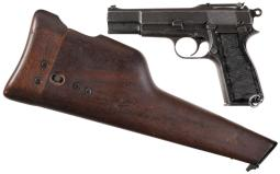 Inglis Mark I* High Power Pistol with Shoulder Stock