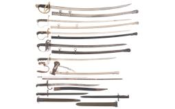 Grouping of American and German Edged Weapons