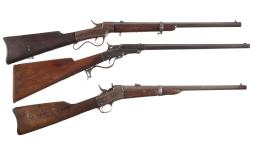 Three Antique Breech Loading Carbines