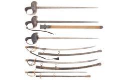 Six American Swords