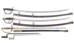 Three Swords and Two Bayonets