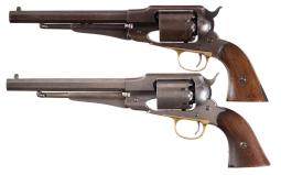 Two Remington New Model Army Percussion Revolvers