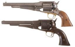 Two Antique Remington Percussion Revolvers