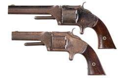 Two Civil War Range Smith & Wesson No. 2 Army Revolvers
