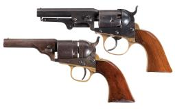 Two Antique American Revolvers