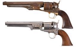 Collector's Lot of Two Civil War Era Colt Percussion Revolvers