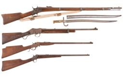 Four Single Shot Rifles