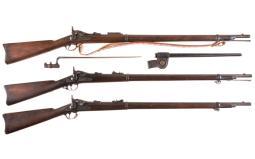 Three U.S. Springfield Trapdoor Rifles