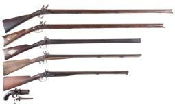 Seven Muzzle Loading Firearms