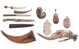 Grouping of Flasks and Knives