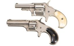 Two Remington Spur Trigger Revolvers