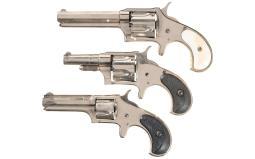Three Remington Spur Trigger Revolvers