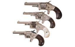 Four Spur Trigger Pocket Revolvers