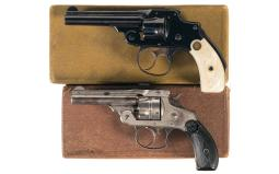 Two Smith & Wesson Double Action Revolvers with Boxes